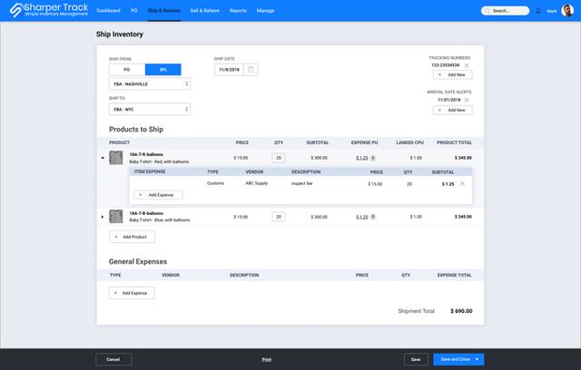 Sharper Track Inventory Management